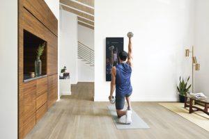 Exercices devant The Mirror