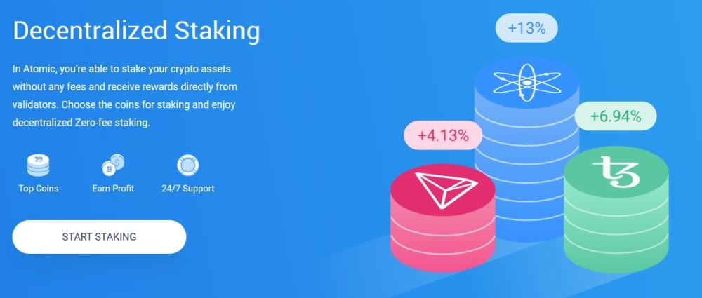 Atomic Wallet Stacking de cryptos