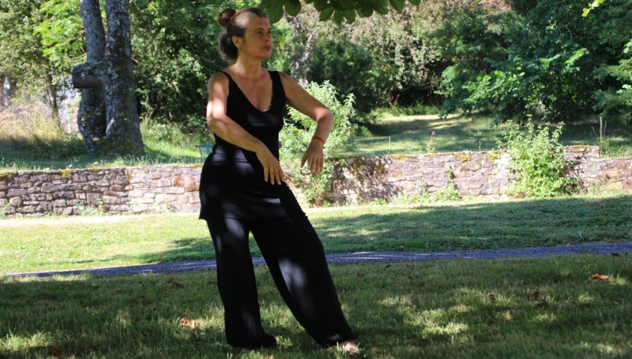Apprendre un art martial dans son jardin