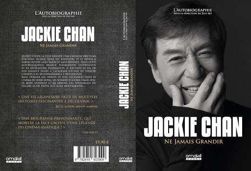 Livre Jackie Chan - Ne jamais grandir (couverture)