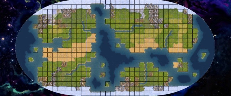 Carte de jeu Alien Worlds